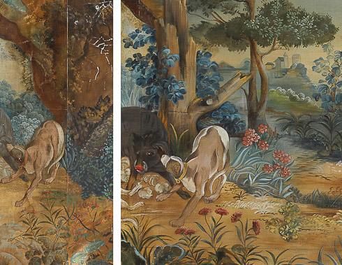 Boar hunt mural