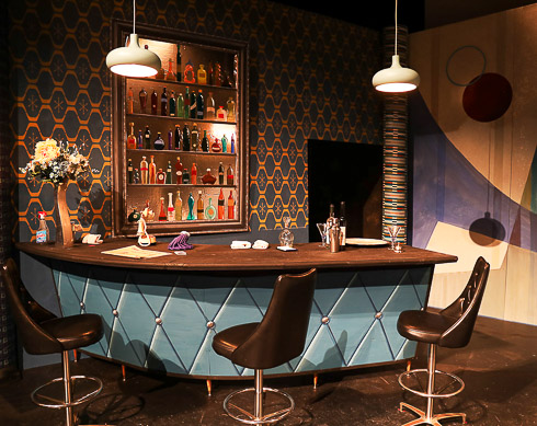 don pascuale opera stage set with bar scene
