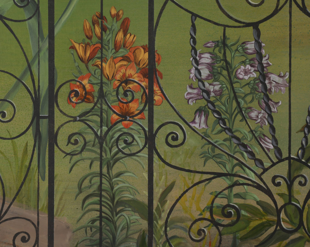 Low country mural with native flower details