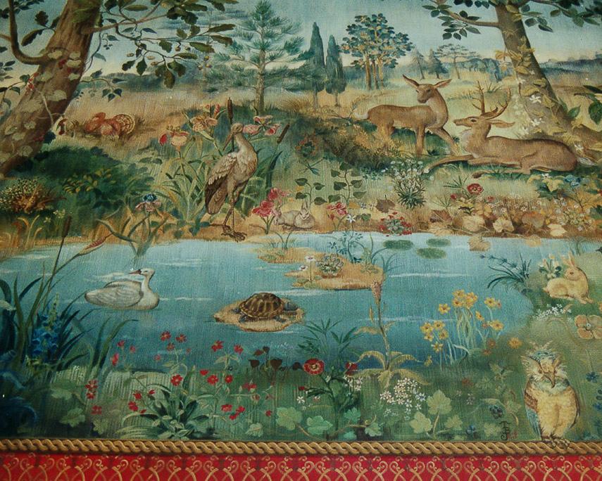 Image of Ritz Carlton tapestry mural