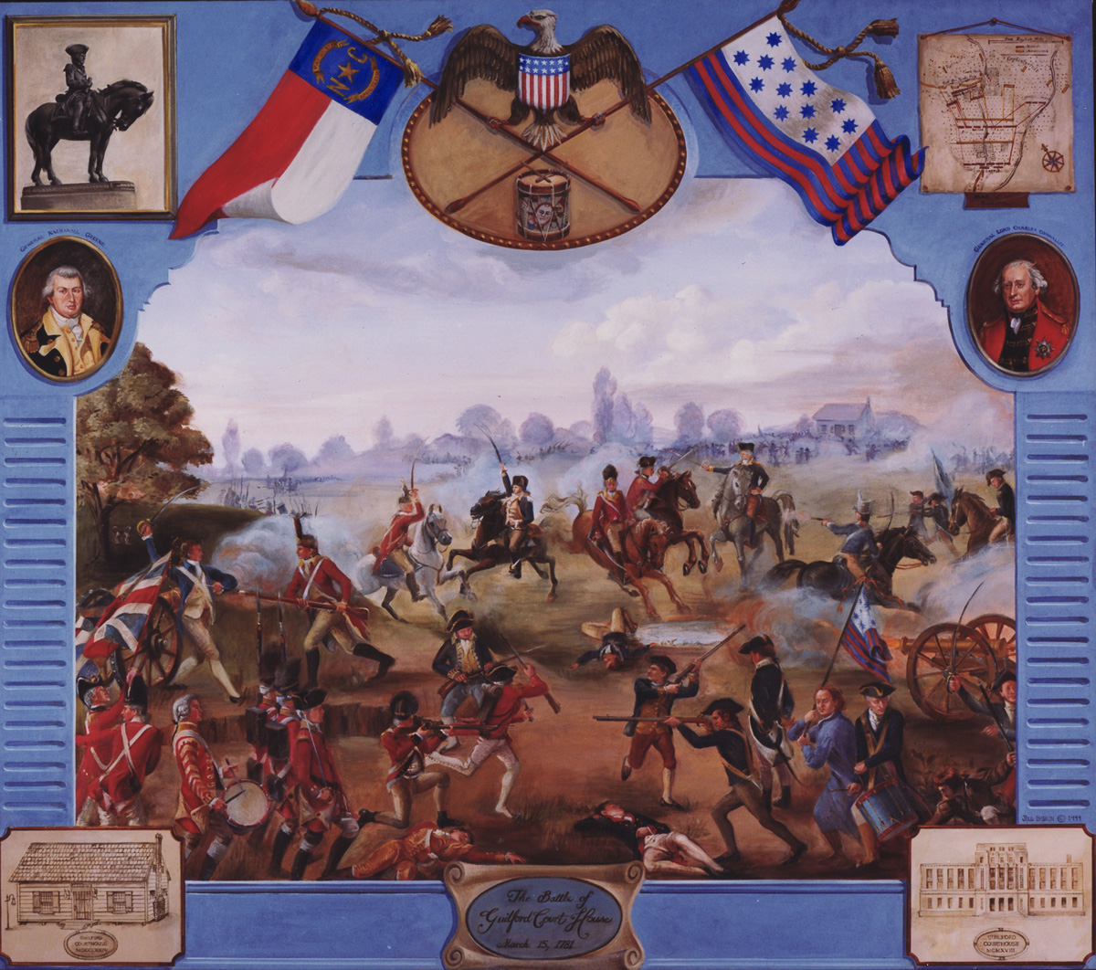 Painting of the Battle of Guilford county